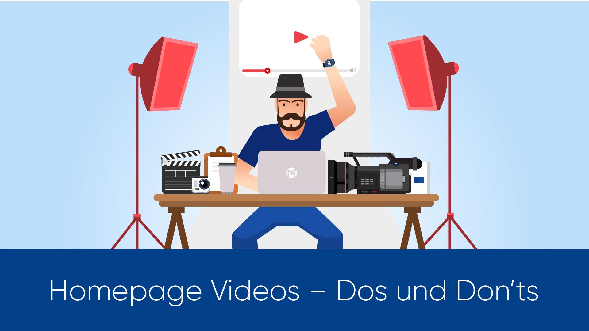 Homepage Videos – Dos und Don'ts