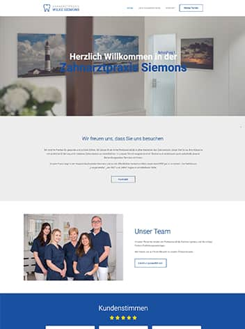 Webseite Zahnarztpraxis