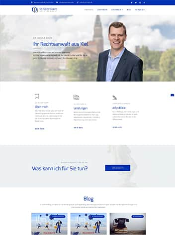 Martel Media - Webseite für Anwalt