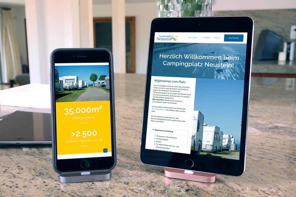 Responsive Webdesign für mobile Endgeräte
