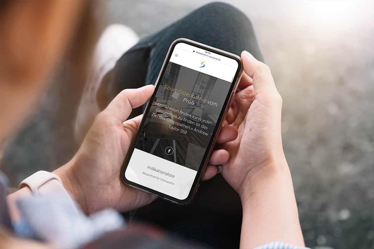 Webdesign - Homepage Smartphone