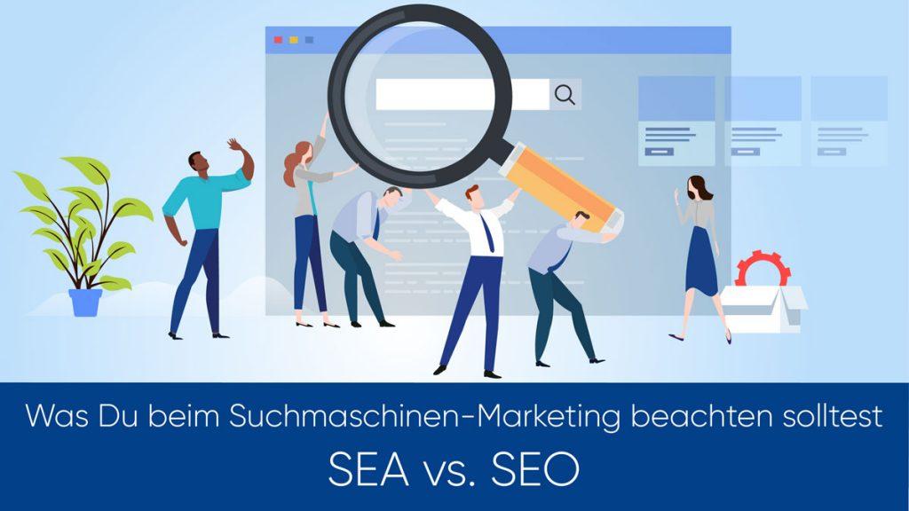 Vergleich zwischen SEA und SEO