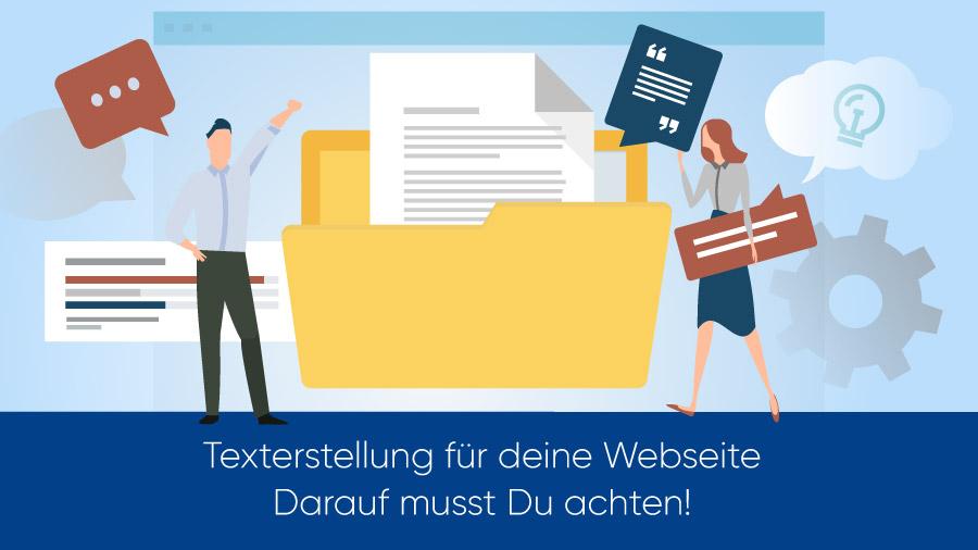Texterstellung für deine Webseite - darauf musst Du achten!